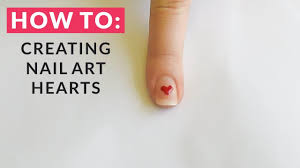 HOW TO | Creating Nail Art Hearts ♡ STEP BY STEP TUTORIAL - YouTube