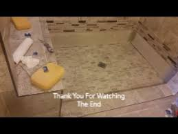 how to grout shower floor step by step grout mosaic tile