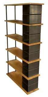 Shelves, Free Standing Bookshelves Tier Shelving Units With Brown Metal  Accent Cabinet Ladder Shelves For