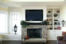 installing tv over fireplace over mantle install tv above brick fireplace hide wires