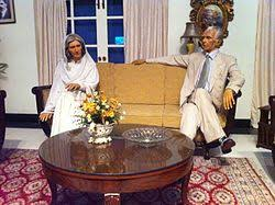muhammad ali jinnah  jinnah and his sister fatima jinnah s wax statues at the museum in the monument islamabad
