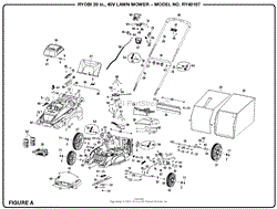 homelite ry40107 20 in 40 volt lawn mower parts diagram for 40 volt lawn mower general assembly parts diagram swipe swipe previous diagrams next diagrams general assembly