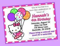 Hello Kitty Birthday Invitations Template Jollibee Invitation Card