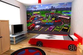 Kids Sports Bedroom Decor Classic Brick Walls Design Boys Sports Bedroom Ideas Drum Shape