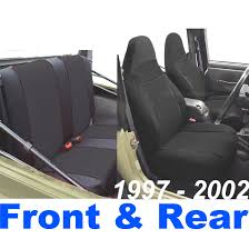 neoprene custom fit seat cover this listing includes front and rear seat covers jeep wrangler tj 1998 1999