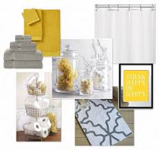 Bathroom Comely Accessories For Black And Yellow Bathroom - Yellow and white bathroom