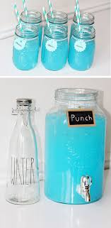 blue baby shower punch