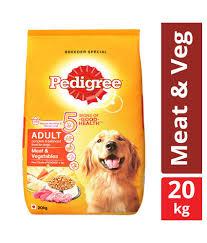 Pedigree Dry Dog Food Meat Vegetables For Adult Dogs 20 Kg