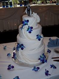 This Cake Would Be Amazing With Blue Orchids For Our Wedding