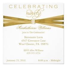 Elegant 90th Birthday Party Invitations 90th Birthday Invitation
