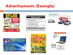 Advertisements Example Advertisement About Meaning Text