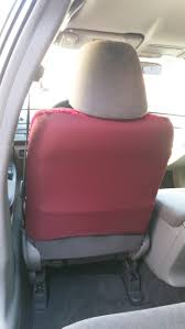 2009 honda accord sedan red kzs universal seat covers utilize stretch polyester backing full material backing is available on our line of full custom seat