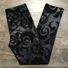 Krazy Larry Pants Black Gray Swirl Shimmer Nwot 4