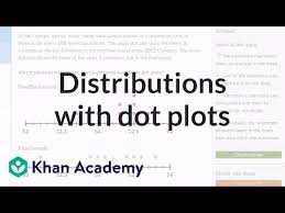 dot plot example comparing distributions with dot plots example problem video