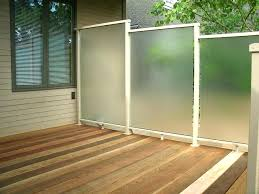 outdoor privacy wall outdoor deck privacy screen outdoor privacy wall on cedar deck frosted privacy screen