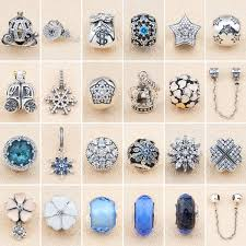 2018 The New 925 Sterling Silver <b>Diy</b> Beaded <b>Diamond Snowflake</b> ...