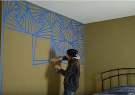 geometric wall paintDIY Abstract Geometric Wall Painting TechniqueVideo