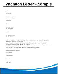 Request Letter Format For Vacation Leave Fresh Beautiful Annual ...