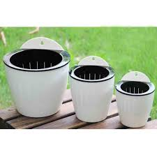 Large Decorative Urns And Vases 100 Pack Elegant White Plastic Self Watering Wall Planter Hanging 90