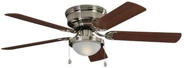 harbor breeze armitage 52 in brushed nickel indoor flush mount ceiling fan