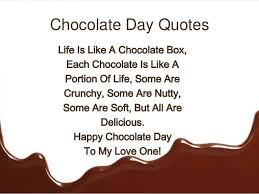 Chocolate Love Quotes Cool Chocolate Day 48 Quotes Sayings And Images Freshmorningquotes