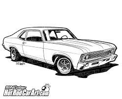 Chevrolet Nomad Hot Rod Car Art