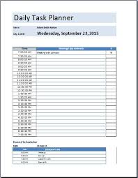 work day planner template daily planner template excel sheet impression print work schedule