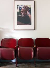 folding cinema chairs uk. old movie chairs and a portrait from africa suit well in corner of gbenga akinnagbe\u0027s folding cinema uk c