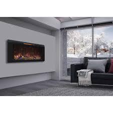 wall hanging electric fireplace stylish classic flame helen 48 in mount black regarding 3