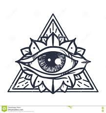 All Seeing Eye In Triangle Stock Illustration Illustration Of