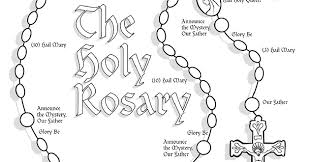Small Picture Rosary Coloring Page 7882