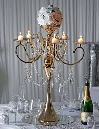 crystal chandelier metal candle holder centerpiece 275 tall gold metal candelabra chandelier votive candle holder wedding centerpiece with acrylic chains