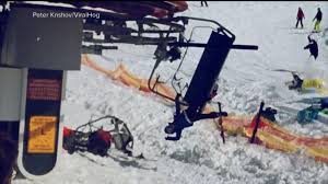 Skiers tossed from malfunctioning chairlift Video ABC News