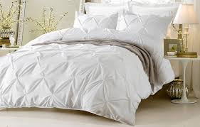 save 25 oversized for pillow top 4pc pinch pleat design white bedding set includes comforter and duvet