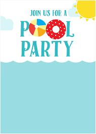 4th of july invitations fresh pool party invitations free templates fieldstation