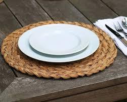 natural round handwoven place mats target placemats set