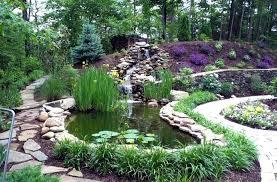 garden pond waterfall ideas for