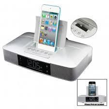 capello ci210 stereo fm clock alarm radio with lightning dock for iphone 5 44