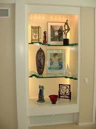floating glass shelf system