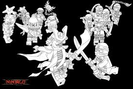 New Lego Ninjago Coloring Pages