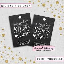 s more love favor tags swirly printable file only s more kit wedding favor tags printable wedding tags diy wedding tags