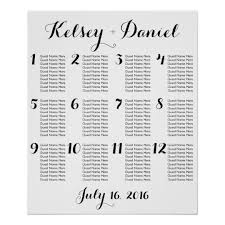 Seating Chart Wedding Simple Wedding Seating Chart Poster