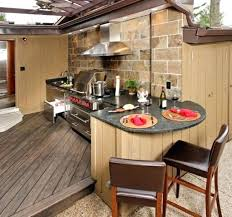 outdoor kitchen designs cool with big green egg