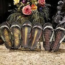 vintage large flip flops shoes metal