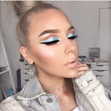 snow bunny makeup beauty cosmetics winter trend blue