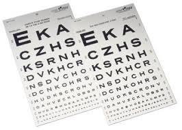 10 Foot Snellen Eye Chart