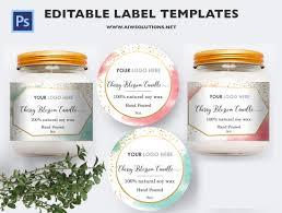 Product Label Template candle label Bernardin Jar Labels BottleLabels Candy Labels 1