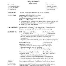 Accounting Clerk Resume Elegant Sample Resume Accounting Accounting