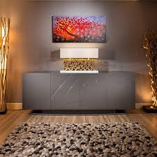 Living Room Sideboards And Cabinets Luxury Large Modern Sideboard Cabinet Buffet In Grey Sparkle