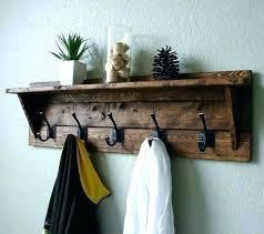 Black Coat Rack With Shelf Beauteous Wall Coat Hooks With Shelf Coat Rack With Shelf Talkwithsamco